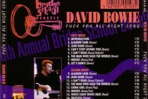 David Bowie 1996-10-19-20-Bridge Benefit Concert,Shoreline,