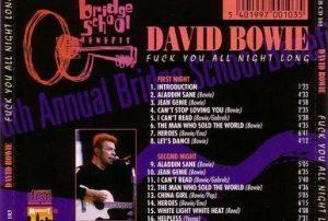 David Bowie 1996-10-19-20-Bridge Benefit Concert,Shoreline,