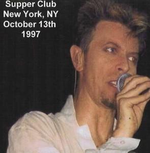 David Bowie 1997-10-13 New York City