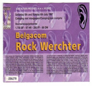 David Bowie 1997-07-05 Werchter ,Festival terrein ,Torhout-Wechter Festival (SK)