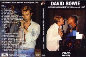 David Bowie 1997-08-12 London ,Shepherd's Bush Empire – Shepherd's Bush Empire 12/8/97 – (excellent dubbed DAT soundtrack - audience recording 133 minutes)