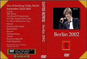 David Bowie 2002-09-22 Berlin ,Max Schmeling Halle - Berlin 2002 - (Broadcast by SAT 1 Germany 2003-02-09)