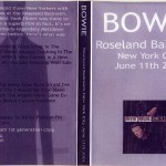 David Bowie 2002-06-11 Roseland Ballroom–Live At The Roseland