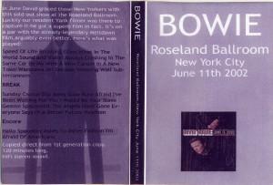David Bowie 2002-06-11 new York City Roseland Ballroom – Live At The Roseland Ballroom ,New York City -