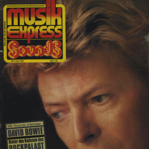 David Bowie Interview for German music magazine MusikExpress - sounds 1983 - SQ 8,5