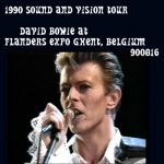 David Bowie 1990-08-16 Ghent ,Flanders Expo (off master – RAW) – SQ 7,5