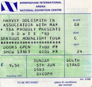 David Bowie 1983-06-05 Birmingham ,National Exhibition Centre (Off master , RAW) - SQ 8