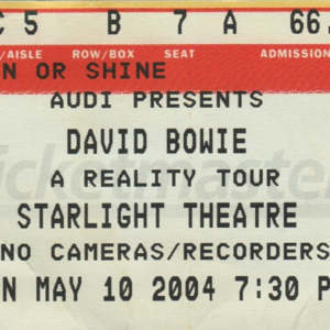 David Bowie 2004-05-10 Kansas City ,Starlight Theatre (The Phog IEM) - SQ 7,5