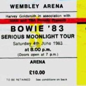 David Bowie 1983-06-04 London, Wembley Arena (blackout) - SQ -9