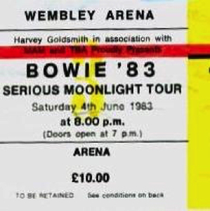 David Bowie 1983-06-04 London,England