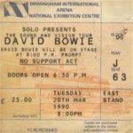 David Bowie 1990-03-20 Birmingham ,National Exhibition Centre (100pcb – RAW) – SQ 8,5