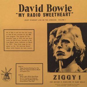 David Bowie Ziggy 1 - My Radio Sweetheart - SQ 8,5