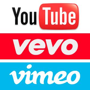 YouTube ,Vimeo & Vevo
