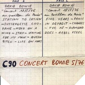 David Bowie 1976-05-18 Paris ,Pavillion de Paris (Low gen) - SQ -8
