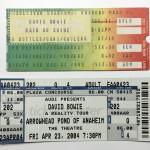 David Bowie 2004-04-23 Anaheim ,Theatre Arrowhead's Pond – SQ 8,5