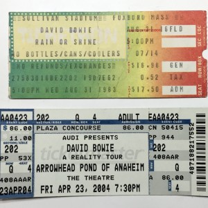 David Bowie 2004-04-23 Anaheim ,Theatre Arrowhead's Pond - SQ 8,5