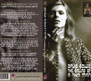 David Bowie The Ballad Of A Thin Man - A Collection Of Rare Demos, Studio & Live Recordings 1969-1971 - 4CD Long Box Set - SQ 8-9