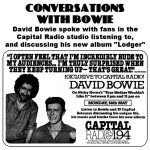 David Bowie 1979-05-14 Conversations with Bowie – Capital Radio broadcast) – SQ 8,5