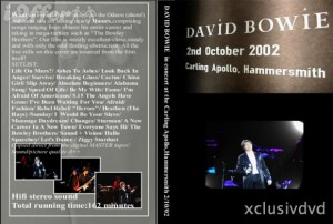 David Bowie 2002-10-02 Hammersmith 2002-Carling Apollo