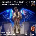 David Bowie 1987-07-03 Paris ,Parc Departemental De La Courneuve - SQ -8