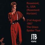 David Bowie 1987-08-21 Chicago ,Rosemont Horizon – 1st Night Chicago – SQ -8