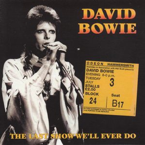 David Bowie 1973-07-03 London ,Hammersmith Odeon (SBD) - Last Show We'll Ever Do - SQ 9