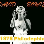 David Bowie 1978-04-28 Philadelphia ,Spectrum Arena (possibly blackout) SQ 7+