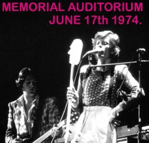 David Bowie 1974-06-17 Rochester ,War Memorial Auditorium (21 tracks) (Diedrich) - SQ 7+
