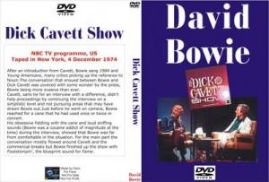 David Bowie 1974-12-04 ,New York City - Dick Cavett Show – NBC TV Programme,US,Taped in New York (31min)