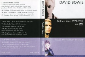 David Bowie Golden Years 1974-1980 (98 minutes TV Broadcast)