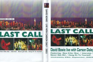 David Bowie 2003-09-25 Last Call With Carson Daly - NBC TV (21 minutes)