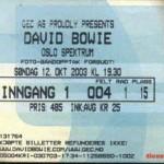 David Bowie 2003-10-12 Oslo , Spektrum - Live Oslo Spectrum - SQ 8+