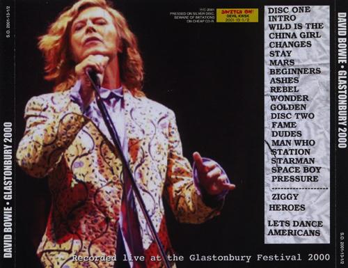 David Bowie 2000 06 25 Glastonbury Glastonbury Festival