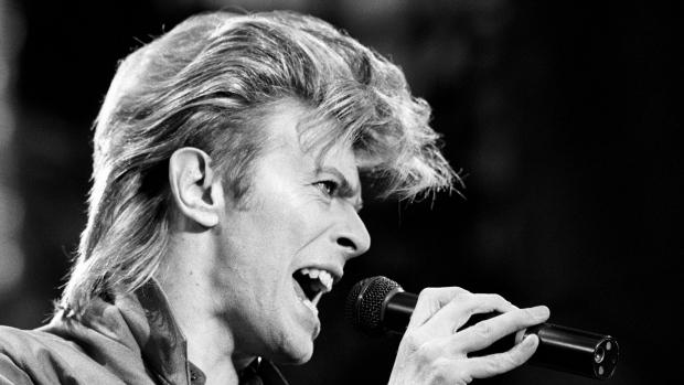 Listen to David Bowie imitate .