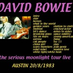 David Bowie 1983-08-20 Austin ,Frank Erwin Center - Live In Austin - SQ 8+