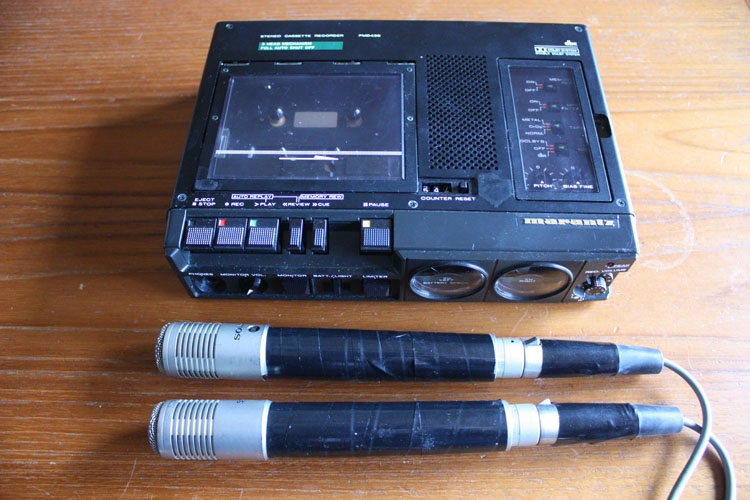 marantz pmd430 sony ecm33f mics