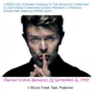David Bowie - Fantasy Studios 1997 - Back Cover