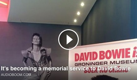 VIDEO: It's becoming a memorial service to David Bowie