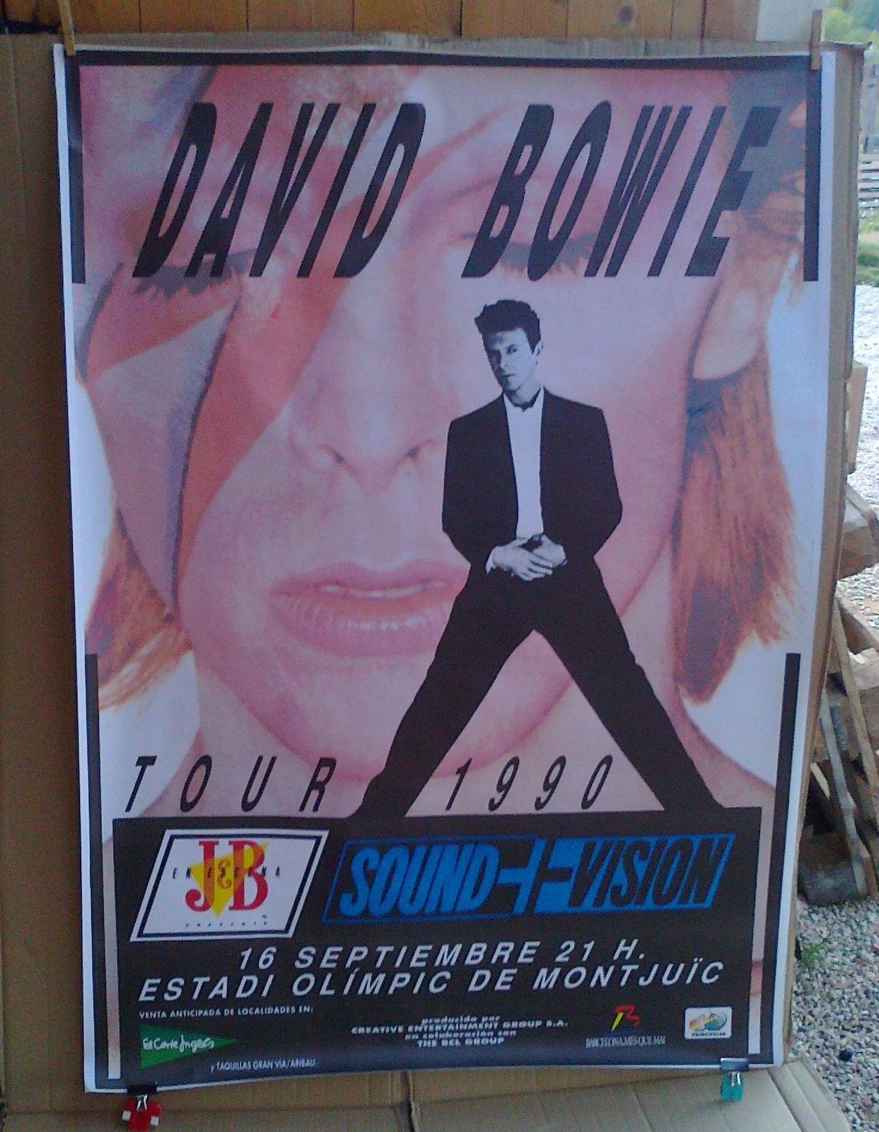 poster bowie 1990 bcn