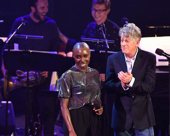 Laura Mvula and Paul Buchanan duetted on Girl Loves Me from Bowie's final album, Blackstar (BBC/Mark Allan)