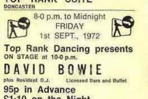 A ticket stub for the September 1972 concert