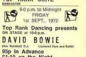 A ticket stub for the September 1972 concert