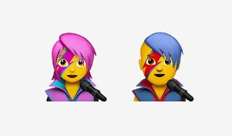 David Bowie Emojis Included in New iPhone Update