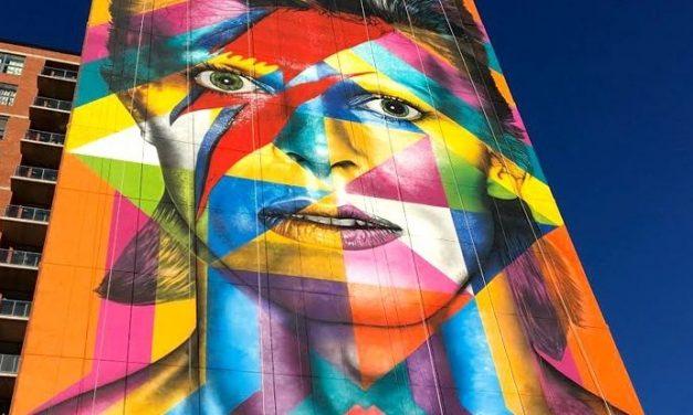 Internationally Acclaimed Brazilian Artist Eduardo Kobra Paints Massive Bowie Tribute Mural in Jersey City