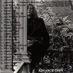 DAVID BOWIE A Semi Acoustic Love Affair (inside)