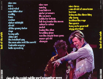 David Bowie 2003-11-23 Dublin ,Point Theatre - Luck Of The Irish - SQ 9