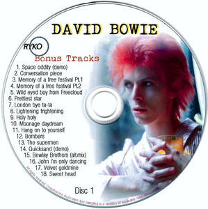 David Bowie - Ryko Bonus Disc CD 1