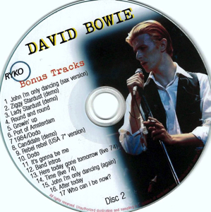 David Bowie - Ryko Bonus Disc CD 2
