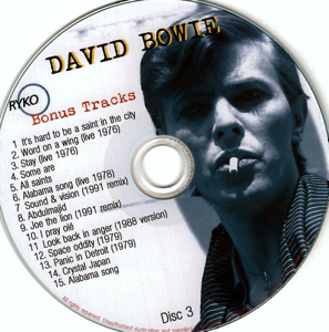 David Bowie - Ryko Bonus Disc CD 3