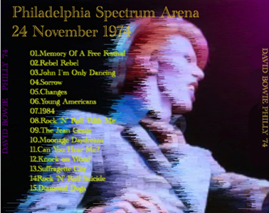 David Bowie - Philly 74 - Back